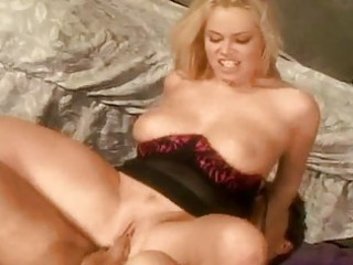 bootylicious bleached woman with huge hooters