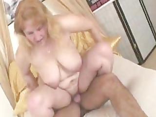 extremely impressive elderly blonde