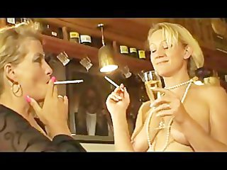 two smoking mature sluts at some homosexual chick