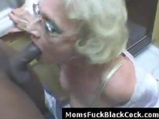 very cougar ashen babe blows large ebony libido