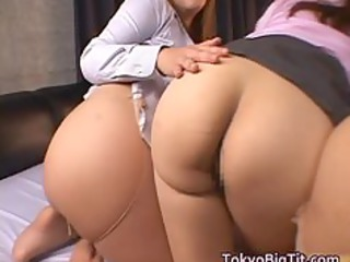 charming japanese mature babes have large part6