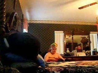 hidden cam of buddies lady putting on her bra!