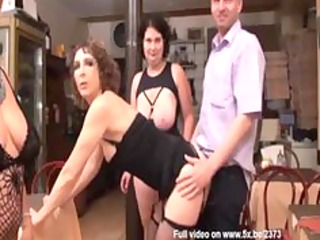 rachel and her allies fucked inside a club