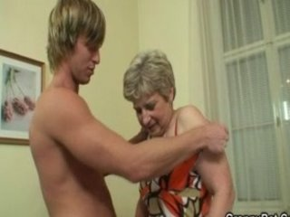 blonde mature drilled hard by fresh guy