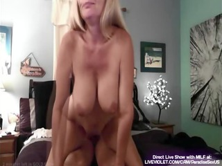 bleached inexperienced mature chick licks and