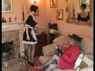 cougar spanks maid