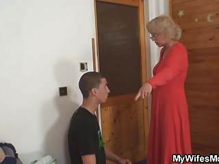 housewife finds him drilling her elderly lady and