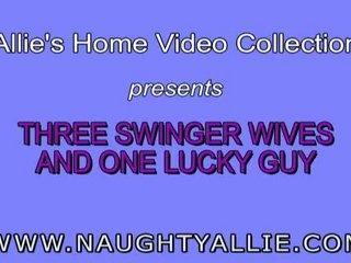 3 swinger girlfriends lone favorable male