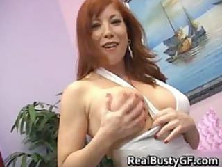 fiery redhead mom with bigboobs tasting part3
