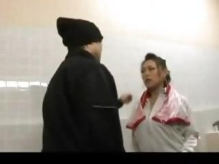 naughty jogging lady cheating pierce public