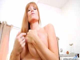 ancient bigtit red-haired housewife
