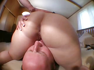 balding hubby sucks wifes kitty after ally fucks