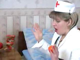 slutty bleached elderly medic obtains a nip from