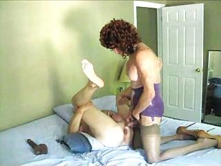 mature ann drills a guy