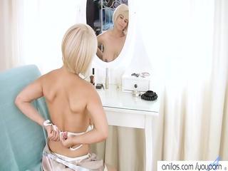 cougar lady seduces herself